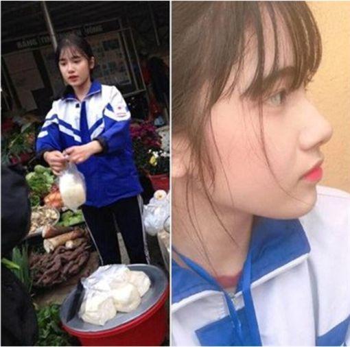 高二女生帮妈妈卖豆腐成网红 外表清纯被网友追捧