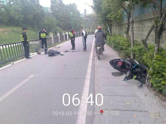 学生开摩托车载人摔倒 全身多处骨折送院救治