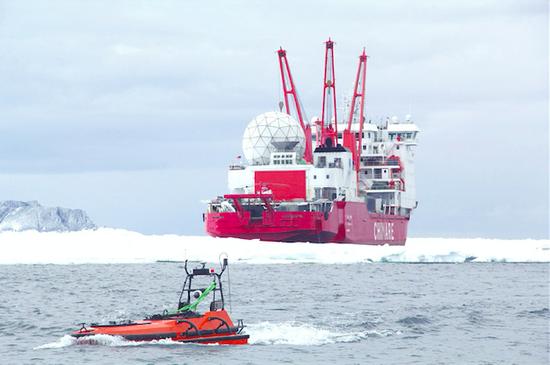 珠海造无人船 为雪龙号探路