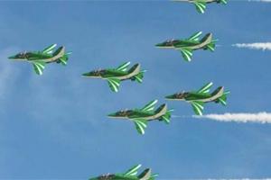 万万没想到,今年参加飞行表演的是这个皇家空军表演队,酷毙了!