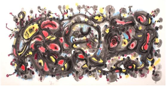 麦平意象绘画演绎中国梦  寄情山水谱写文艺情