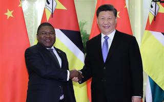 习近平会见莫桑比克总统