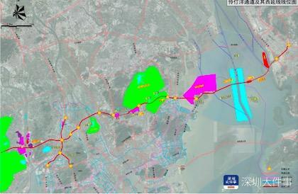 深珠通道规划设想:公铁两用+西桥东隧,但未形成规划方案