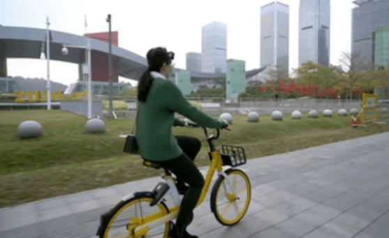 共享单车骑行成深圳上班族返工新姿势