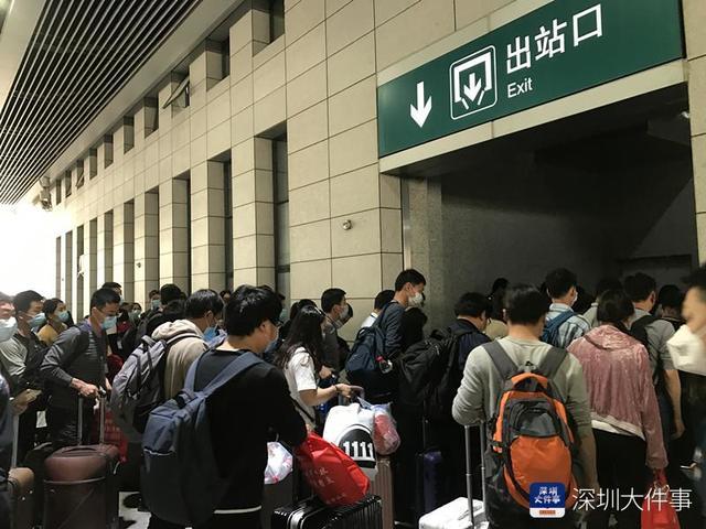 深圳东站迎3列武昌始发复工专列,中途停靠惠州东莞东