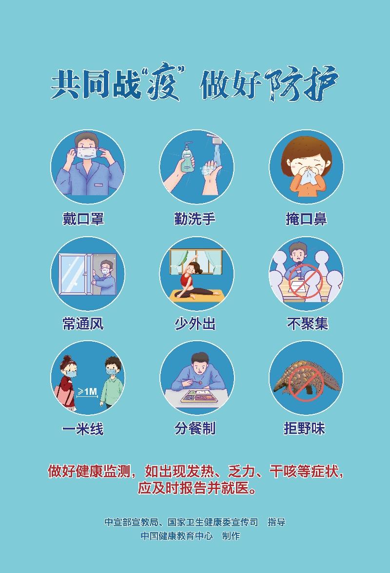 【图说我们的价值观】新冠肺炎疫情防护知识宣传(10)