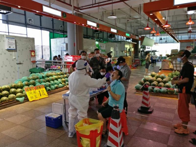 福田农批核酸检测全员阴性,深圳多个市场将全员检测